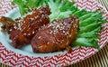 Peking Pork Chops Royalty Free Stock Photo