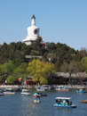 Peking-Skyline, Beihai Park, Stockfotos
