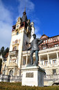 Peles Castle facade Royalty Free Stock Photography