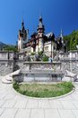 Peles castle in muntenia region romania old building in sinaia prahova county Royalty Free Stock Images