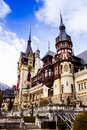 Christmas spirit at Peles Castle, Sinaia, Romania Royalty Free Stock Photo