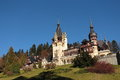 Peles castle sinaia city romania is a neo renaissance placed in an idyllic setting in the carpathian mountains in prahova county Stock Image