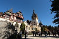 Peles castle sinaia city romania is one of the most visited castles in annually thousands of foreign tourists but also romanians Stock Image