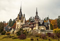 Peles castle sinaia home of the former king of romania Royalty Free Stock Photos