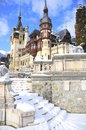 Peles castle, Sinaia-Romania Royalty Free Stock Photo