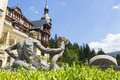 Peles castle sinaia romania antique allegoric statue detail in garden is the most visited museum in with more Stock Photography