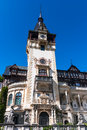Peles castle in sinaia romania built by king carol i as summer residence gothic style with german neo renaissance facade after Royalty Free Stock Photography