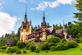 Peles castle, Sinaia, Romania Royalty Free Stock Photo