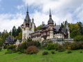 Peles castle in sinaia romania with rooms and built between and for king carol i of and later used by ceausescu sinai Royalty Free Stock Photography