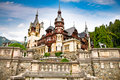 Peles museum in sinaia romania transylvania Stock Photography