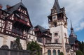 Peles palace sinaia romania mountain resort in view over the castle Stock Photography