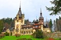 Peles palace view of the castle romania Royalty Free Stock Image
