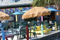 Pelican cafe waterfront eatery in coastal community Stock Photo