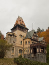 Pelisor castle in sinaia home of the former king of romania in art nouveau style Royalty Free Stock Photo