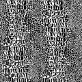 Pelle del coccodrillo del rettile Fotografia Stock