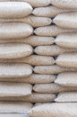 Pellets biomass pine stack of sacks stock photo Stock Photos