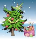 Pelliccia-albero Immagini Stock