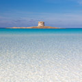 Pelosa beach, Sardinia, Italy. Royalty Free Stock Photo