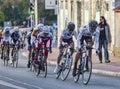 The Peloton- Paris Nice 2013 in Nemours Royalty Free Stock Photo
