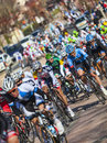 The peloton paris nice in nemours saint pierre lès france march image of riding fastly during first stage of famous road bicycle Royalty Free Stock Image