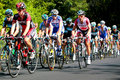 The Peloton racing with BMC leading Royalty Free Stock Photo