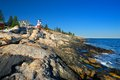 Pemaquid lighthouse maine beautiful view of the in Royalty Free Stock Photo