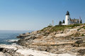 Pemaquid lighthouse maine a sunny day at Stock Images