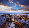 Pemaquid Point Coast Royalty Free Stock Photo
