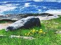 The Pemaquid Point Light rocks Royalty Free Stock Photo
