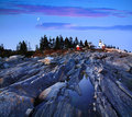 Pemaquid Point Lighthouse Royalty Free Stock Photography