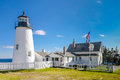 Pemaquid point lighthouse maine usa Stock Images
