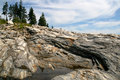 Pemaquid Rocks Royalty Free Stock Photo