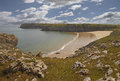 Pembrokeshire coast a walk allong the path reveals beautiful scenery in this national park Stock Image