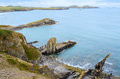 Pembrokeshire coastal path wales united kingdom in Royalty Free Stock Photo