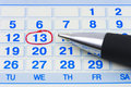 Pen and calendar Royalty Free Stock Photo