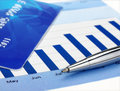 Pen on the chart Royalty Free Stock Photo