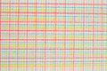 Pen on checkered background of different colors Royalty Free Stock Photo