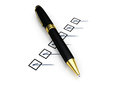 Pen and Checklist Royalty Free Stock Photo