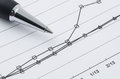 Pen on the compare graph Royalty Free Stock Photo