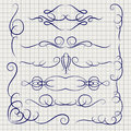 Pen decorative ornaments on notebook page