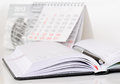 Pen on a diary Royalty Free Stock Photo