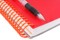 Pen and diary notebook closed closeup of the Royalty Free Stock Images