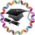 Pen graduation cap logo