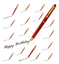 Pen greetings collection written with the Royalty Free Stock Photography