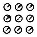 Pen Icon Buttons Royalty Free Stock Photo