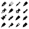 Pen icons Royalty Free Stock Photo