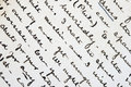 Pen and ink writing Royalty Free Stock Photo