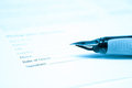 Pen and legal document for signature Stock Photo