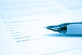 Pen and legal document for signature Royalty Free Stock Photo