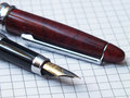 Pen with note book Stock Photography